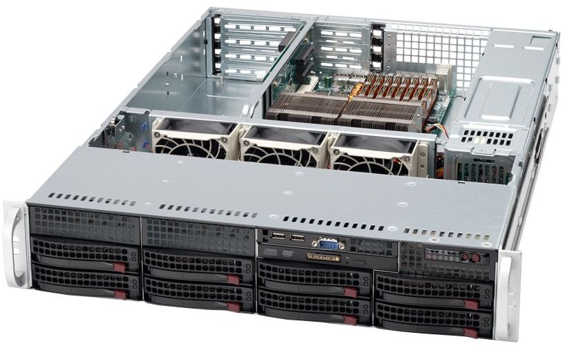"Supermicro SuperServer, 2HE, 8 x 3.5"" HDD/SSD 6028R-TR"