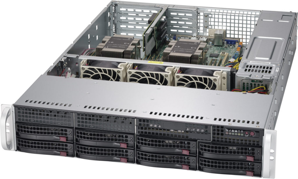 "Supermicro SuperServer, 2HE, 8 x 3.5"" HDD/SSD 6029P-WTR"