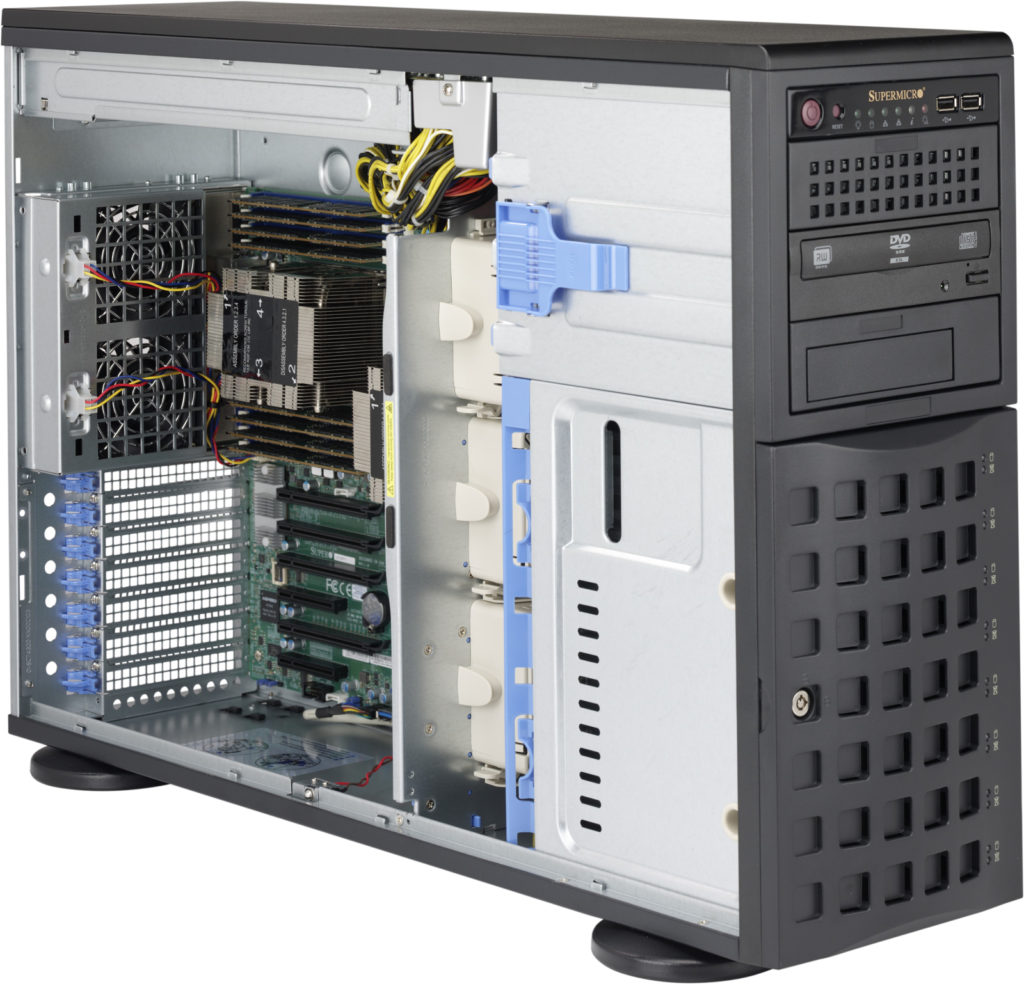 "Supermicro Tower Server, 4HE, 8 x 3.5"" HDD/SSD 7049P-TRT"
